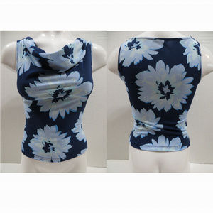 Express top Large sleeveless floral draped neck